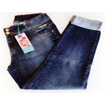 Calça Plus Size Jeans Feminina Cós Alto Tamanho 50