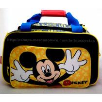 Mala De Mão Grande Infantil Mickey Mouse Original Sestini