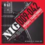 Cordas Nig P/ Guitarra Elétrica N-63 .009-.042 + 1º Mi Extra