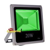 Refletor Holofote 20w Led Verde Bivolt - Frete Grátis