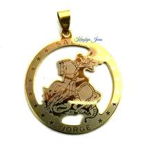 Medalha Pingente São Jorge Aço Inox 316l Banhado/folheado!!!