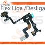 Cabo Flex Flat Botão Power Sensor De Proximidade - Iphone 4s