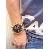 Relógio Masculino Exclusive Atlantis Original Dourado + Case