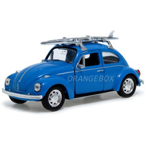 Volkswagen Fusca Beetle 1:34 Surf Welly 42344surf-azul