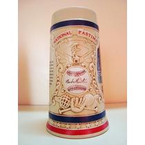 Caneco De Chopp Ceramica Ceramarte Budweiser Alto Relevo