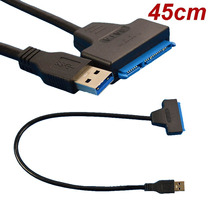 Cabo Blindado Usb 3.0 Para Sata 22pin Hd/ssd 2,5 Notebook