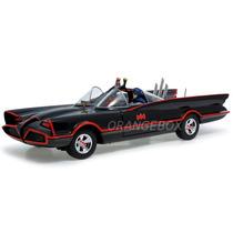 Batmóvel 1966 Batman & Robin Hot Wheels Elite 1:18 Bcj95