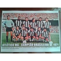 Poster Do Atlético Mg - Campeão Brasileiro 1971