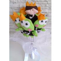 Buquê Bouquet De Noiva Daminha Coração Lobo Mau Sapo Cupido