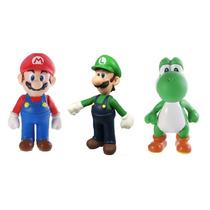 Boneco Mario Luigi Yoshi - Action Figure Mário Bros Luigi