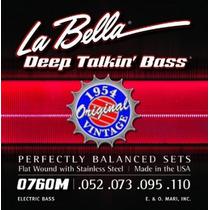 Encordoamento La Bella Baixo 0760m (1954) 052 Flat Wound