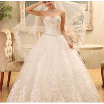 Vestido De Noiva Estilo Princesa Lindo
