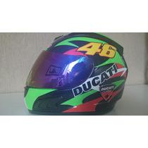 Capacete Valentino Rossi 46 Italia Helmet Df2 Ducati Gp Moto