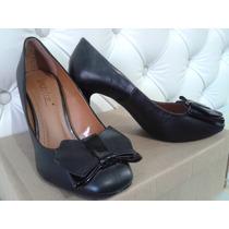 Sapato Linda Luz Feminino Preto Com Laço