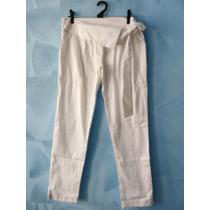 Calça Semi Saruel Branca Amarração P