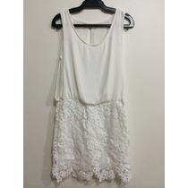 Vestido Branco Renda Abertura Nas Costas Tenho Zara Animale