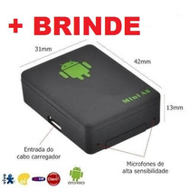Mini A8 Escuta Espiã Gsm Localizadora Gps Celular + Brinde