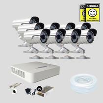 Kit Monitoramento Dvr Stand Alone 16 Canais Jfl 9 Cameras