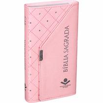 Bíblia Sagrada Evangélica Carteira Feminina Rosa