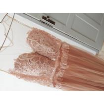 Vestido De Formatura Cor Nude Lia Rabello