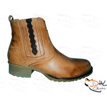 Botina Bota Couro Montaria Rodeo Country Western Texana