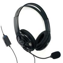 Headset Fone Ps4 Stereo Microfone Acolchoado Função Mudo P2
