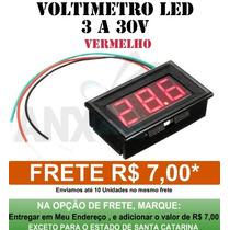 Voltímetro Digital Importado De 3 A 30v Display Vermelho