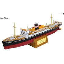 Papel Modelismo 3d - Navios Do Mundo - Hikawa Maru
