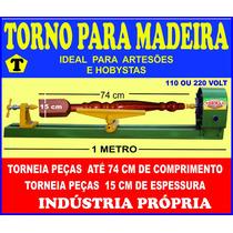 Mini Torno Para Madeira 1 Metro 60 Cm