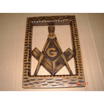 Simbolo Maçonaria Esculpido Em Madeira De Parede Vazado