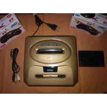 Mega Drive 3 Personalizado Com 1 Jogos + 2 Controles Novos