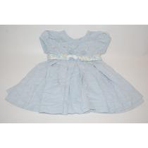 Vestido Azul Com Detalhe Faixa Florida - Yellow Bug - Tam. P