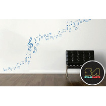 Cartela De Adesivo Decorativo - Notas Musicais