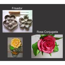 Frisador Para Flor De E.v.a. - Rosa Conjugada G