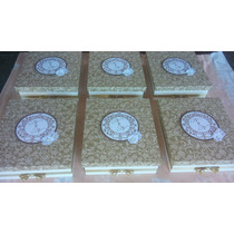 Caixa Mdf Decorada Para Mini Chandon E 2 Taças