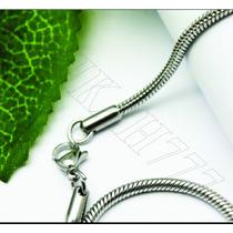 Corrente/cordão Rabo De Rato Redonda Aço Inox Cirúrgico3,2mm