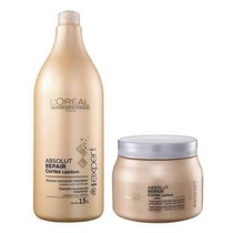 Kit Loréal Absolut Repair Shampoo De 1500ml + Máscara 500g