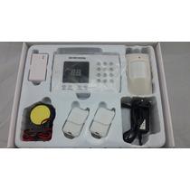 Kit Alarme Residencial Com Discadora +2 Sensores +1 Sirene