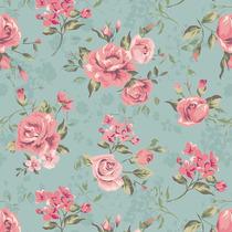 Papel De Parede Floral, Rosas Contact