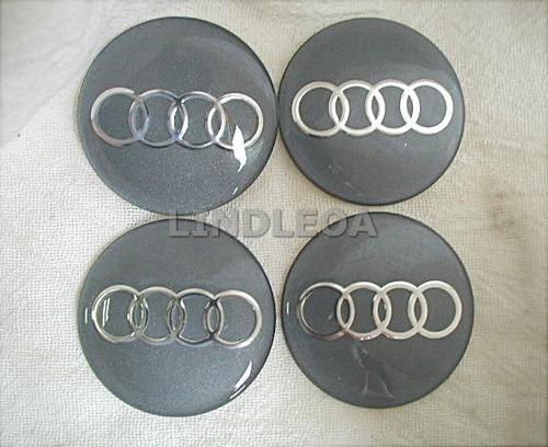 117mm Emblemas Centro Rodas Audi A3 A4 A6 A8 Q7 Tt Quattro