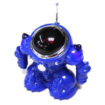Caixa De Som Robo Portatil Radio Fm Usb Mp3