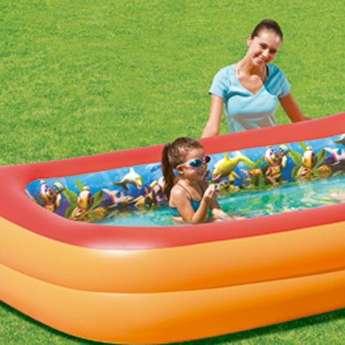 Piscina infl vel 3d adventure 778l com 2 culos 3d r for Oculos piscina