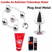 Bolinhas Tailandesas Pompoarismo Plug Anal Aço Inox Metal