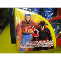 Kit 07 Bonecos Zorro Gulliver Don Diego Com Acessorios