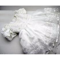 Vestido Bebê Batizado Daminha Princesa Luxo