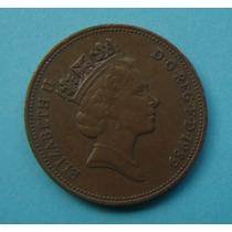 28 - Inglaterra 2 New Pence 1989, 26mm Elizabeth - Bronze