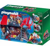 Brinquedo Playmobil Box Maleta Calabouço Do Dragão Original