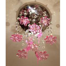 Lustre Infantil Em Cristal Egípcio Com Bailarinas E Flores