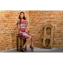 Vestido Com Seda Estampada- Frete Grátis - Marca Belle & Bei