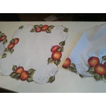 Conjunto De Cozinha Pintados À Mão 6 Peças Em Tecido Oxiford